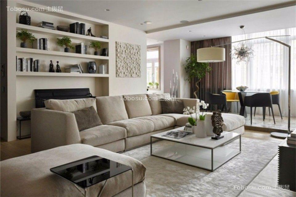 海西幸福港两室一厅89平欧式风格装修效果图