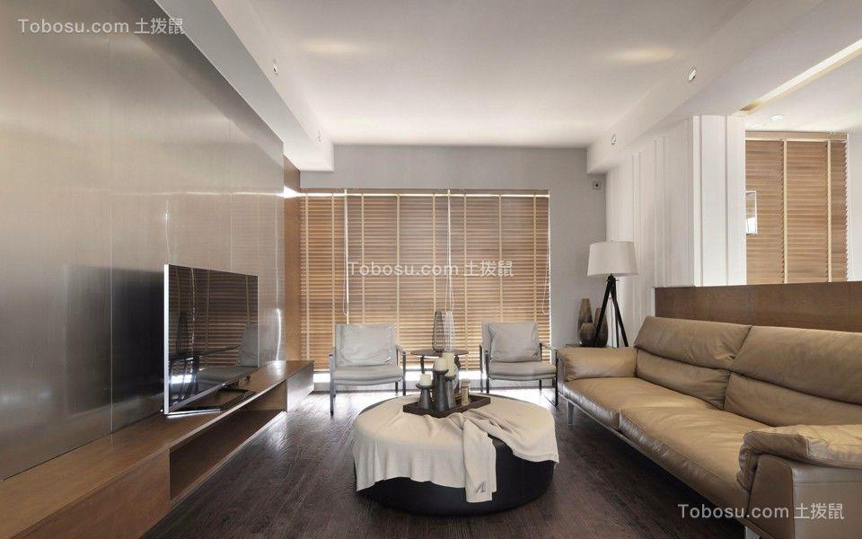 御龙山137平现代风格三居室装修效果图