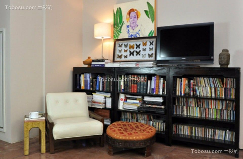 怡美嘉园两室一厅75平混搭风格装修效果图