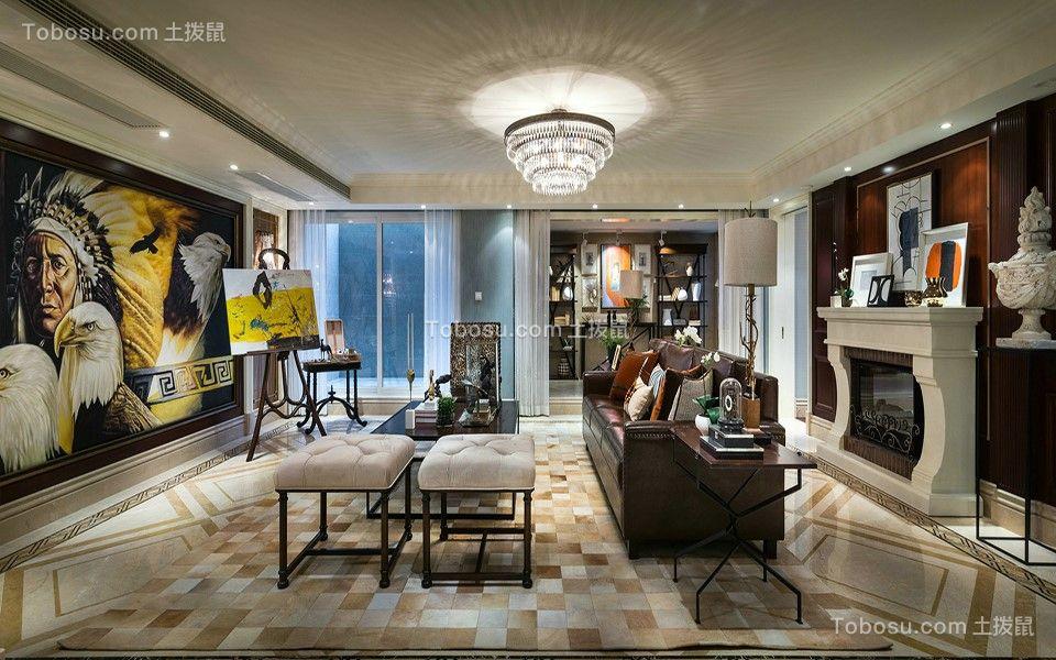 192平欧式风格三居室装修效果图