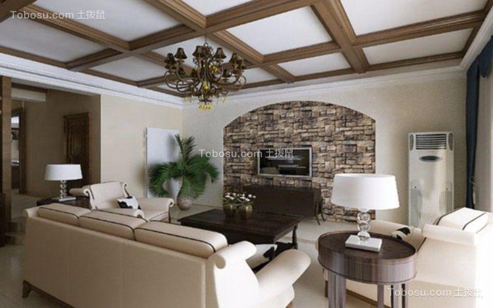 十里蓝山238㎡美式风格五室二厅三卫装修效果图