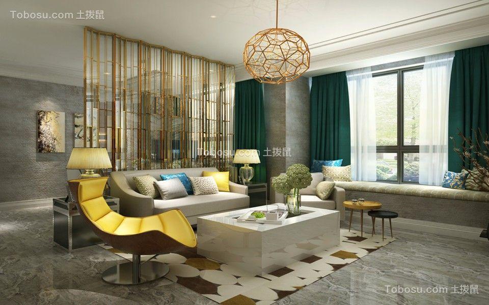 阳光城翡丽湾108平米现代三居装修效果图