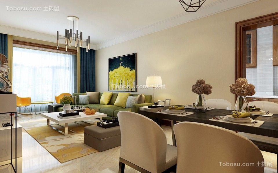府东天地118平米现代风格三居室装修效果图