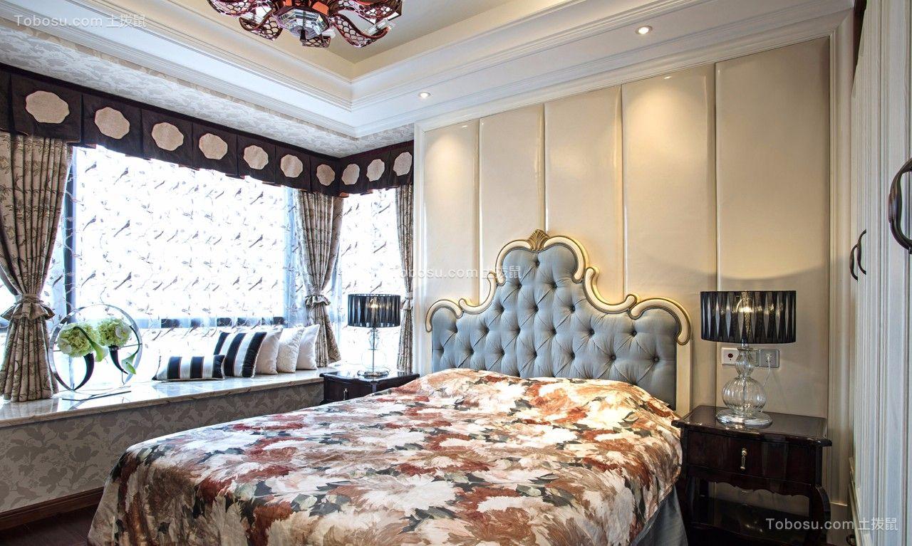 卧室 飘窗_欧式180平米未来海岸三居室效果图