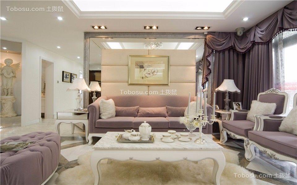 王府花园120平欧式三室两厅一卫装修效果图