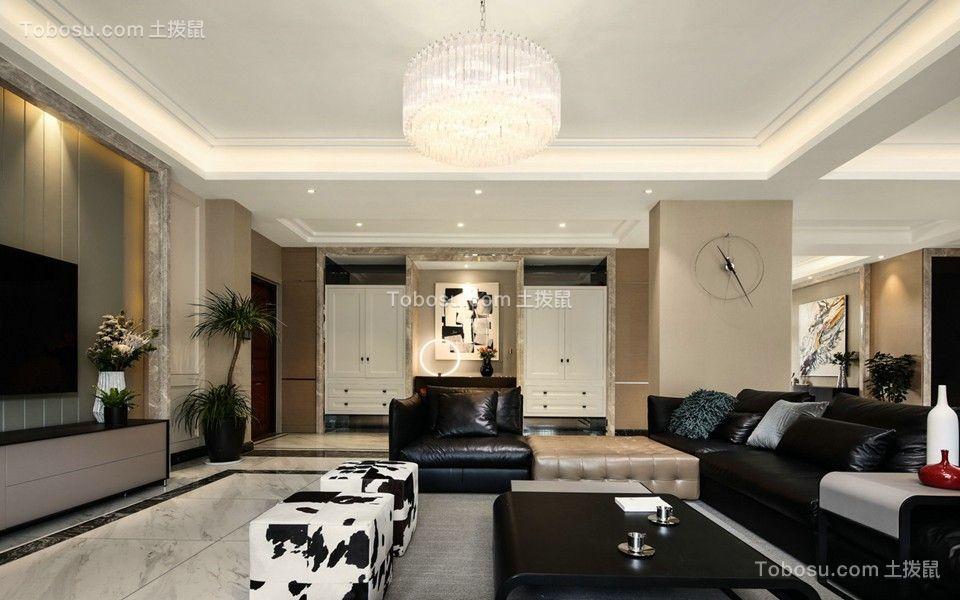 江南名府130平方三居室混搭风格效果图