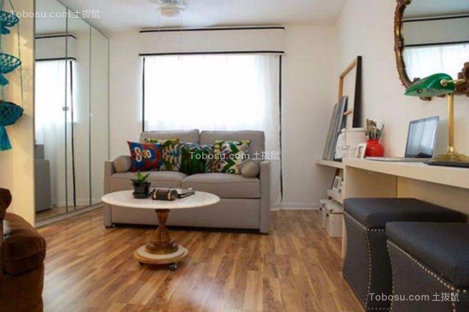 金鼎瑞市公寓一室一厅30平混搭装修效果图