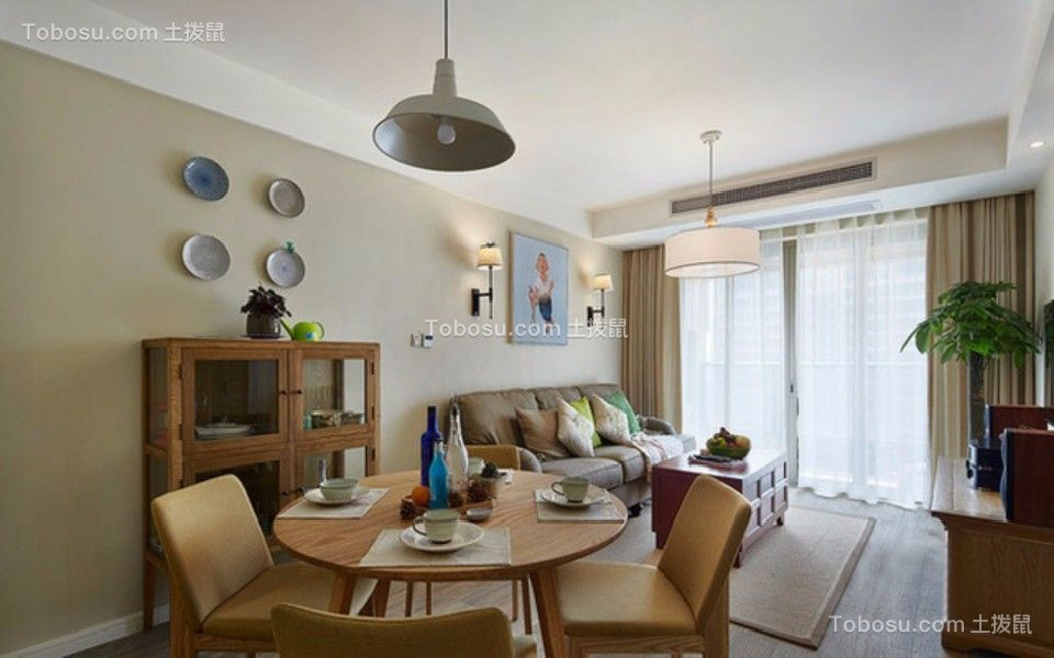 客厅 照片墙_武夷嘉园一室一厅60平混搭装修效果图