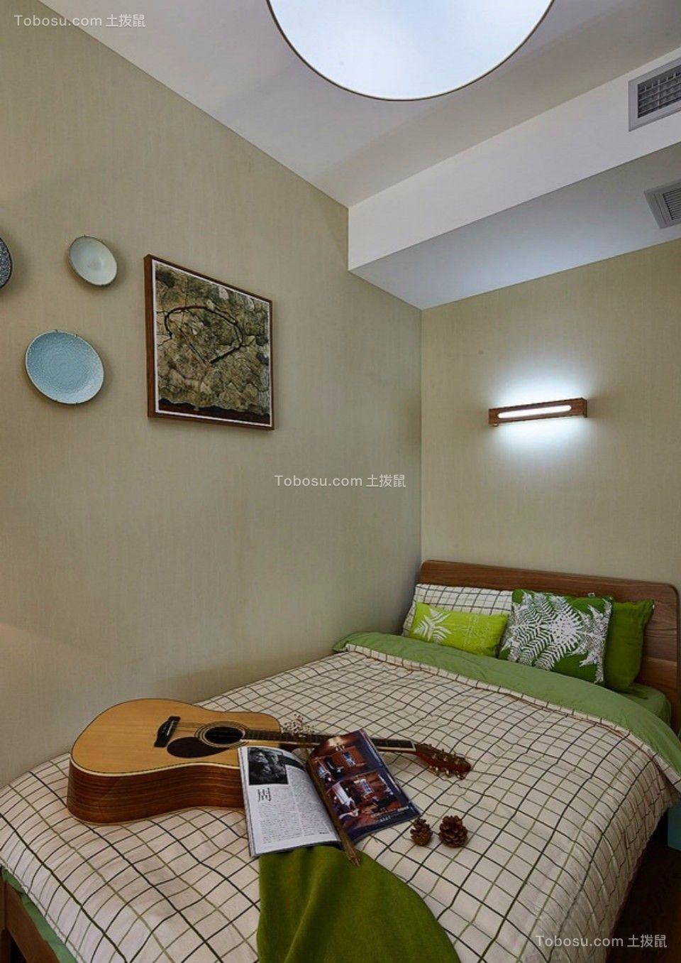 卧室 床_武夷嘉园一室一厅60平混搭装修效果图