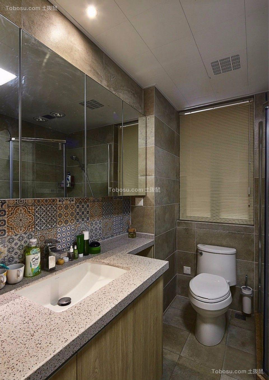 卫生间 洗漱台_武夷嘉园一室一厅60平混搭装修效果图