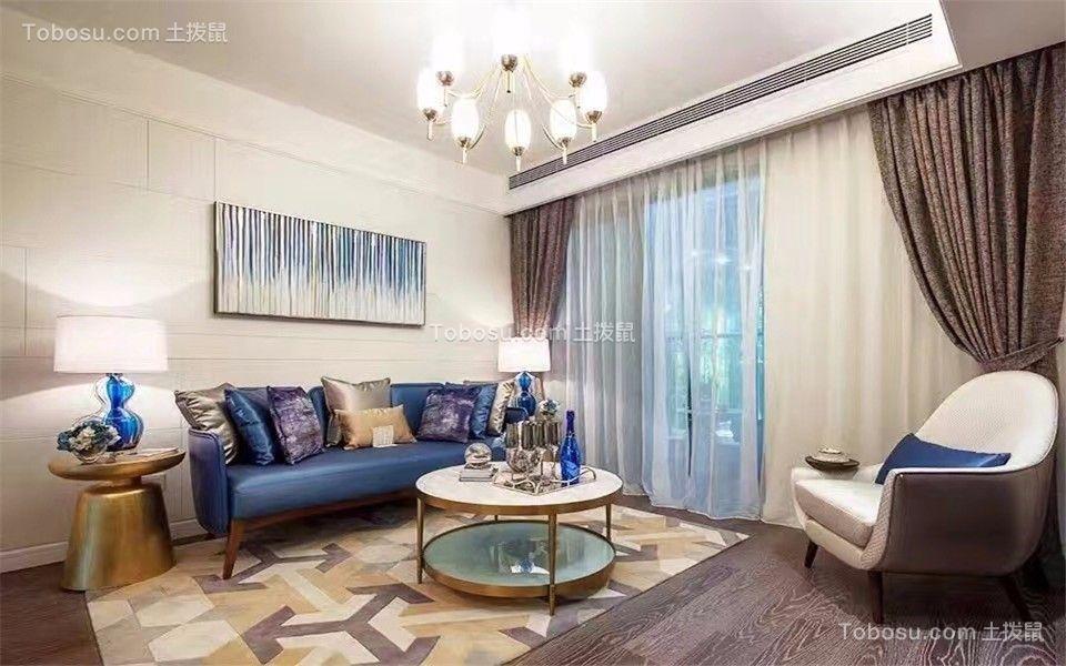 客厅 沙发_卓越城132平北欧风格三居室装修效果图