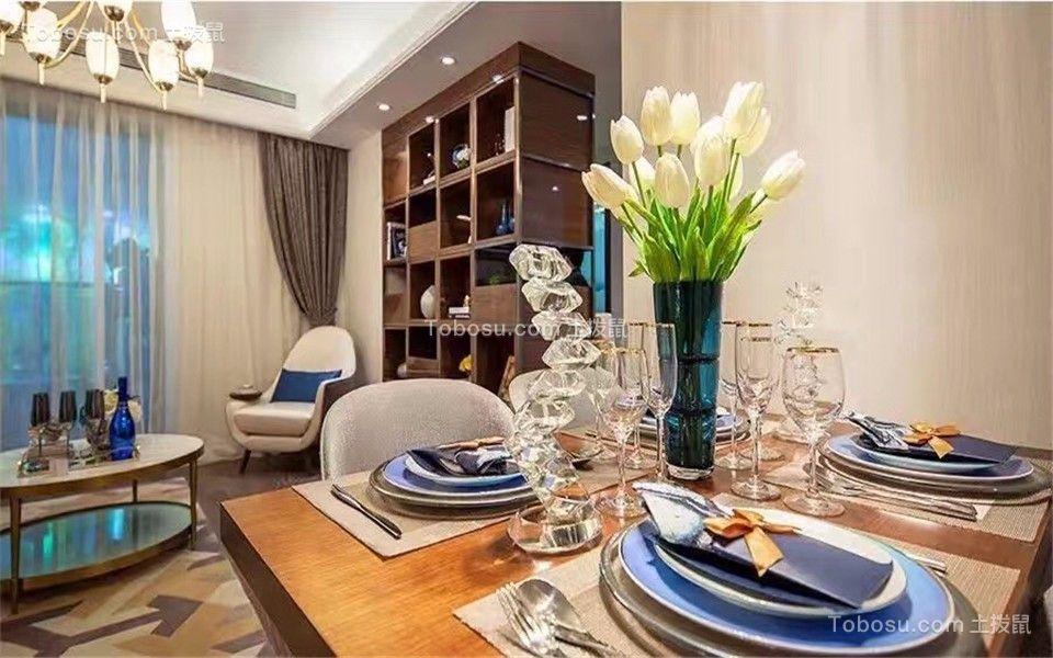 餐厅 餐桌_卓越城132平北欧风格三居室装修效果图