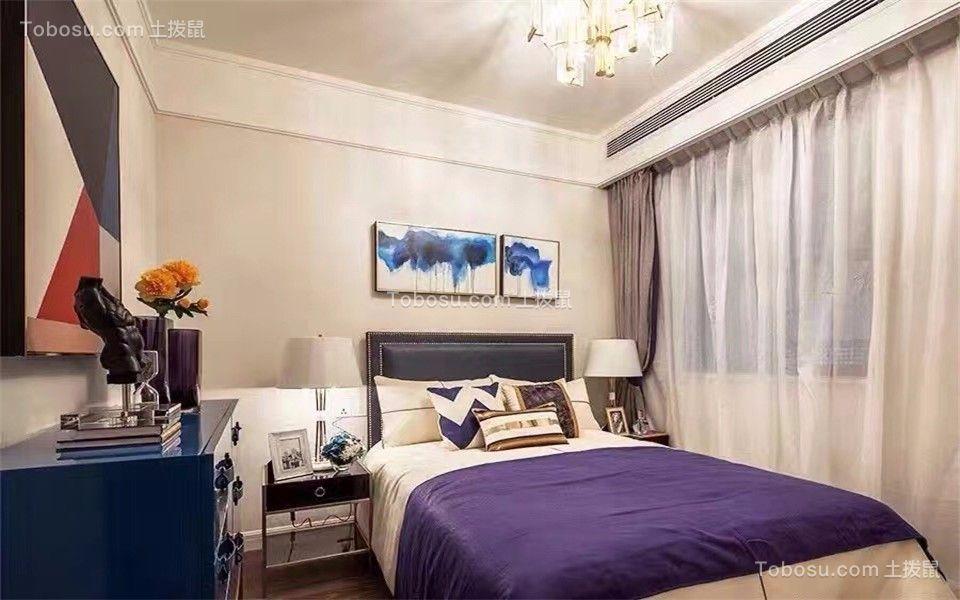 卧室 床_卓越城132平北欧风格三居室装修效果图
