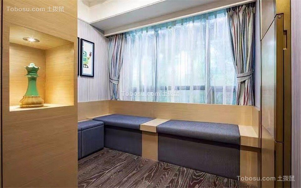 书房 地板砖_卓越城132平北欧风格三居室装修效果图