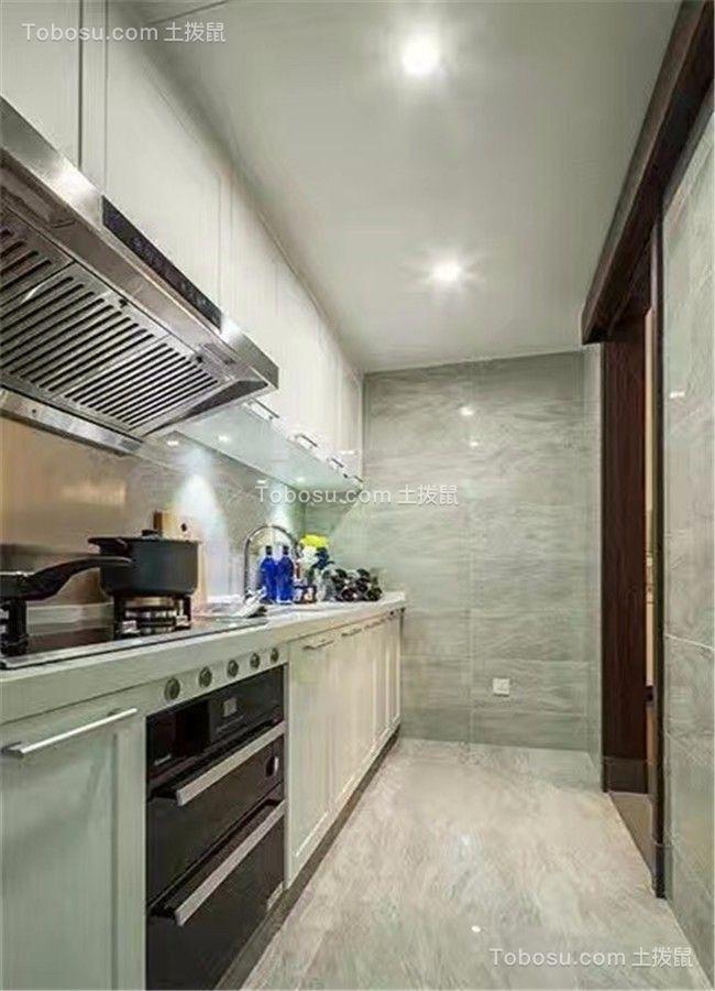 厨房 橱柜_卓越城132平北欧风格三居室装修效果图