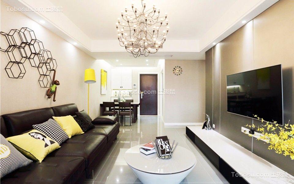80平北欧风格二居室装修效果图