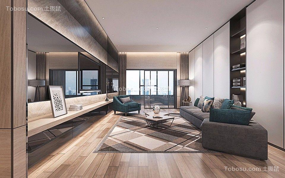 凯旋国际公寓149平米三居室简欧风格装修效果图