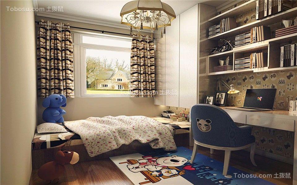 儿童房白色榻榻米现代简约风格装修效果图