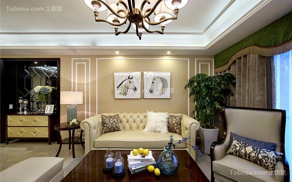 260平新古典风格三居室装修效果图