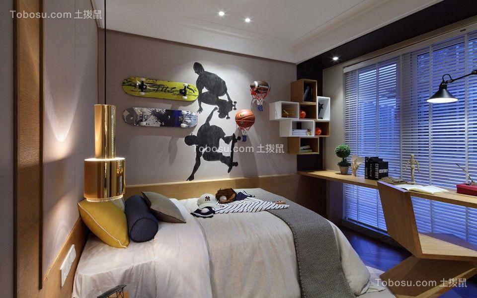儿童房白色床中式风格装潢图片