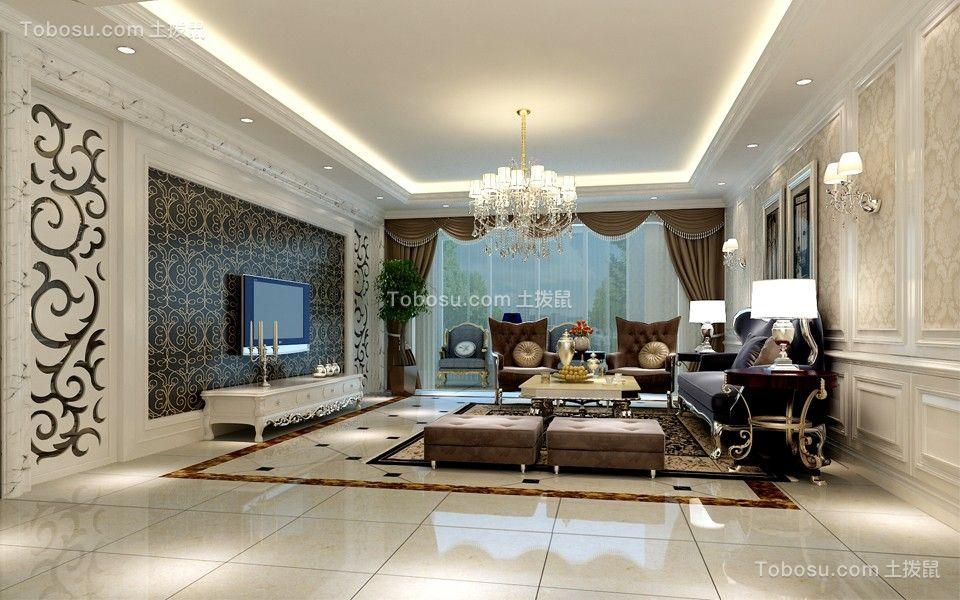 棕榈泉国际216平米简欧风格公寓装修效果图