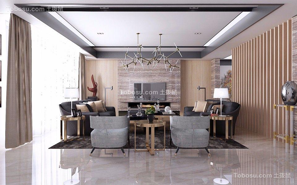 300平后现代风格别墅装修效果图