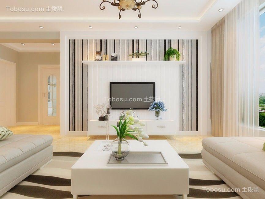 89平米现代简约风格三房装修效果图