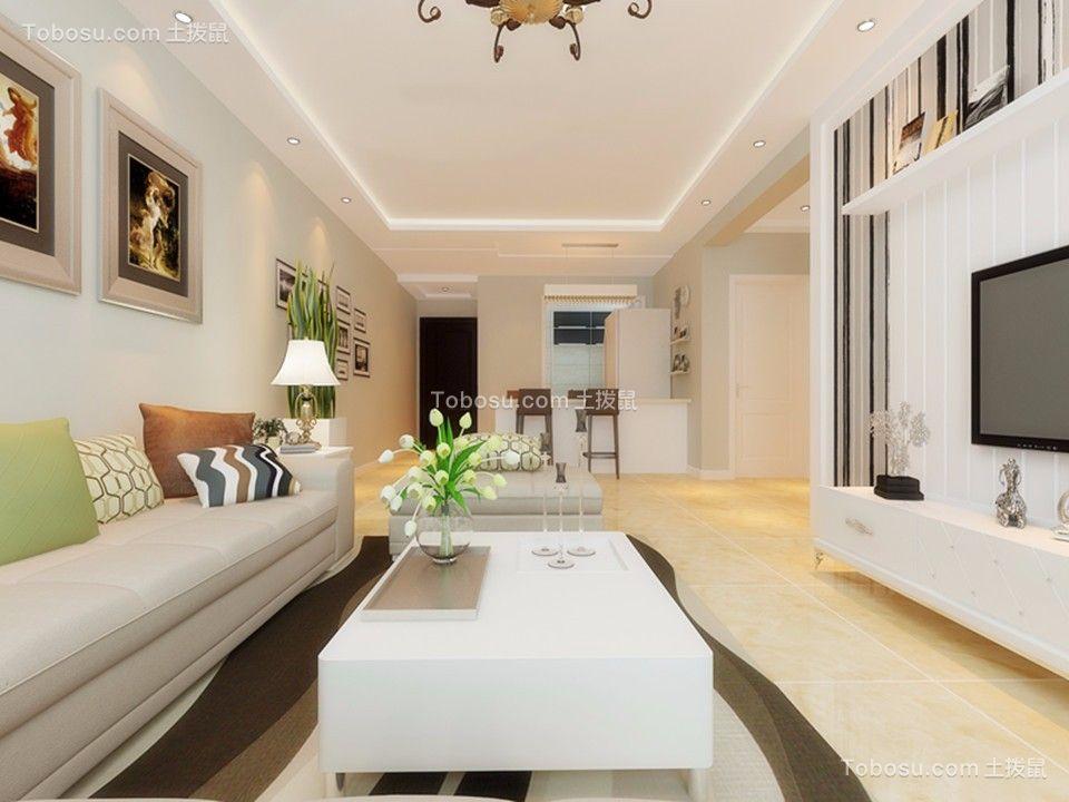 89平米简约三房,奢华的客餐厅,搭配年轻又大方!