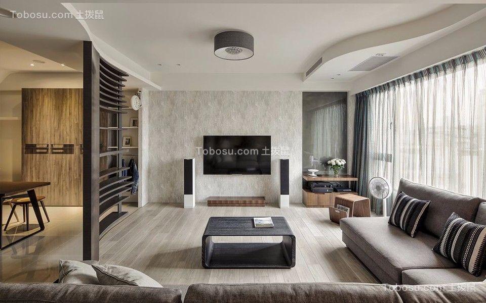 138平简约风格三居室装修效果图
