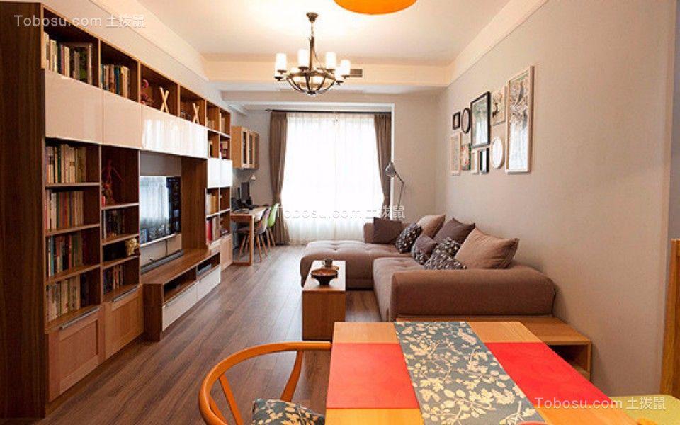 金钻世家两室两厅90平混搭风格装修效果图