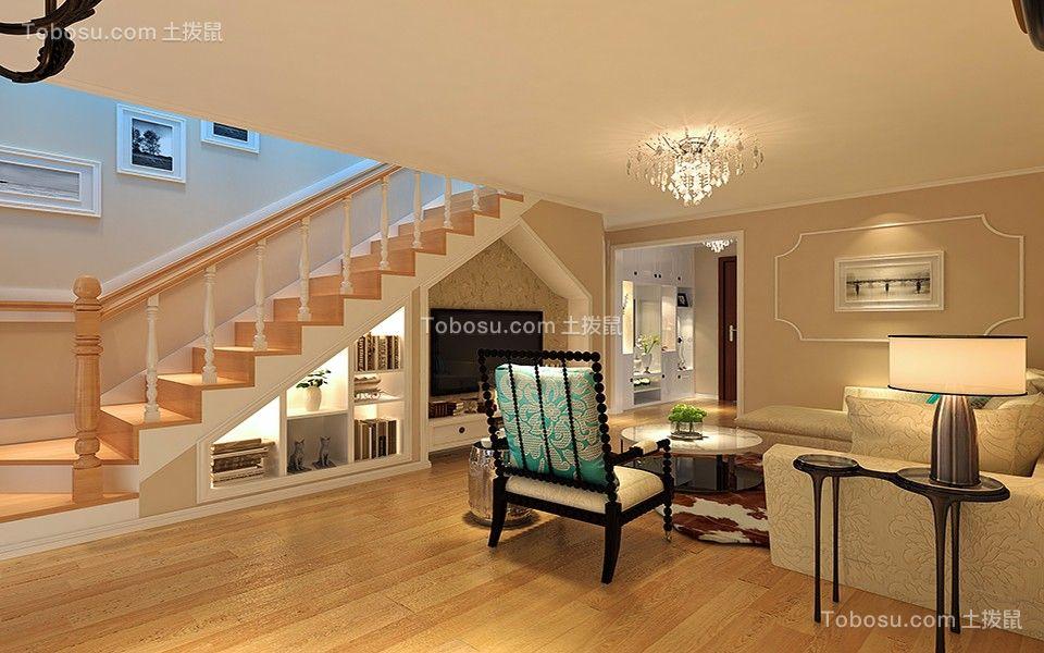 2019田园客厅装修设计 2019田园楼梯装修设计