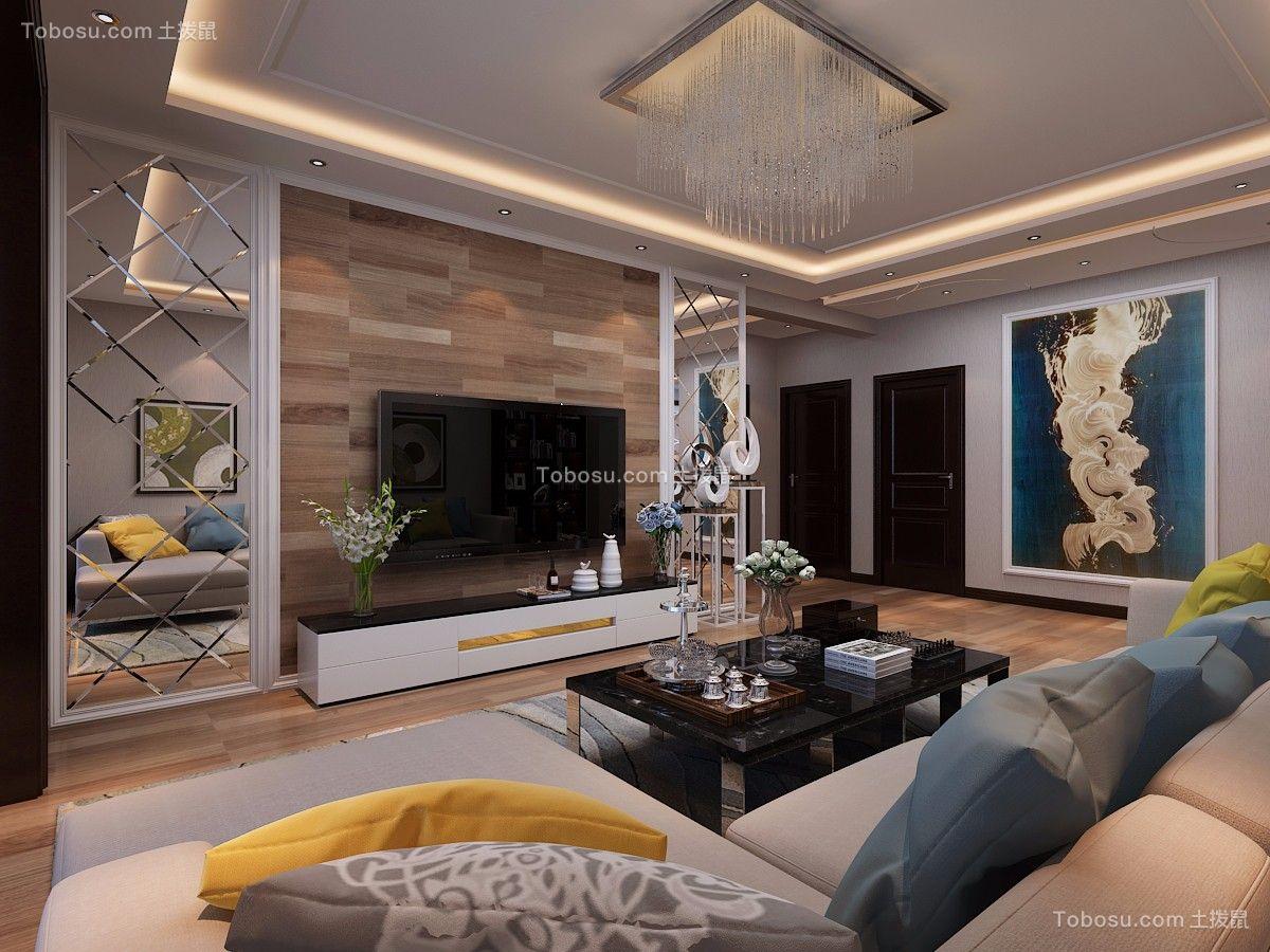 公园伍号138平米现代简约风格三室两厅装修效果图