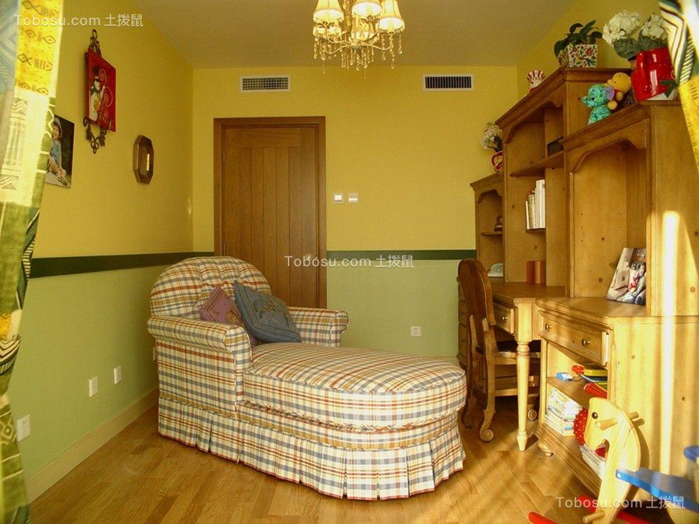 起居室黄色吧台田园风格装饰效果图