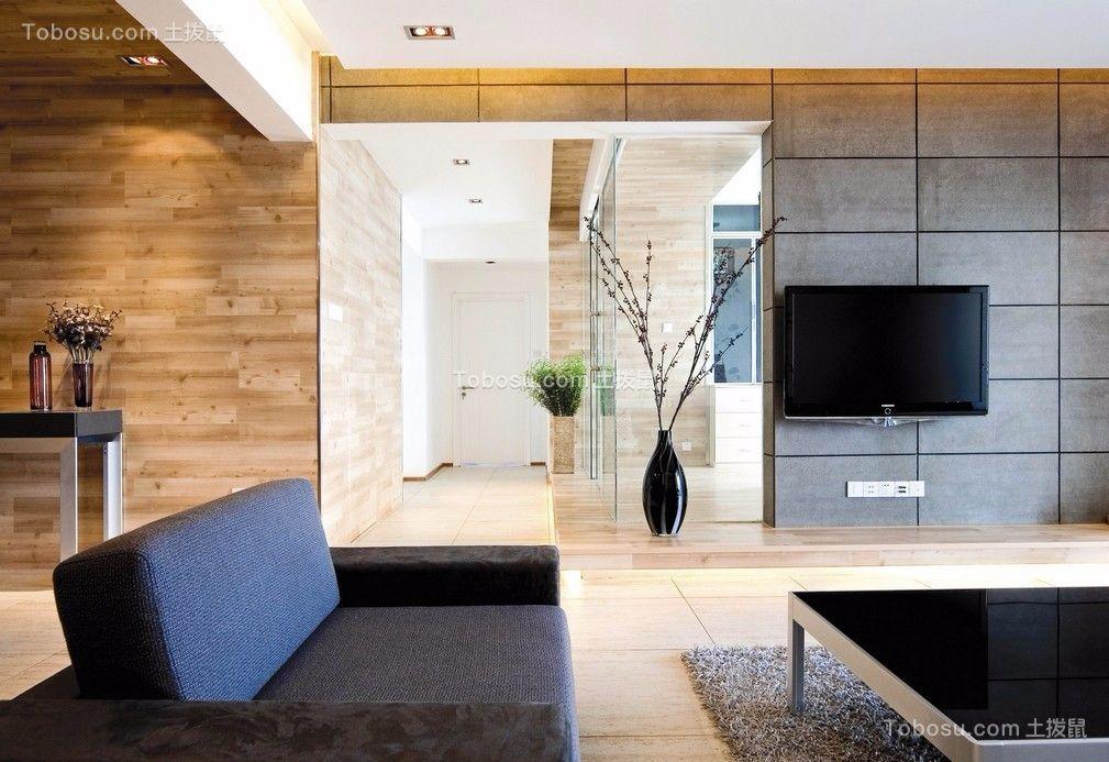 凯旋名门现代简约风格107平米三居室装修效果图