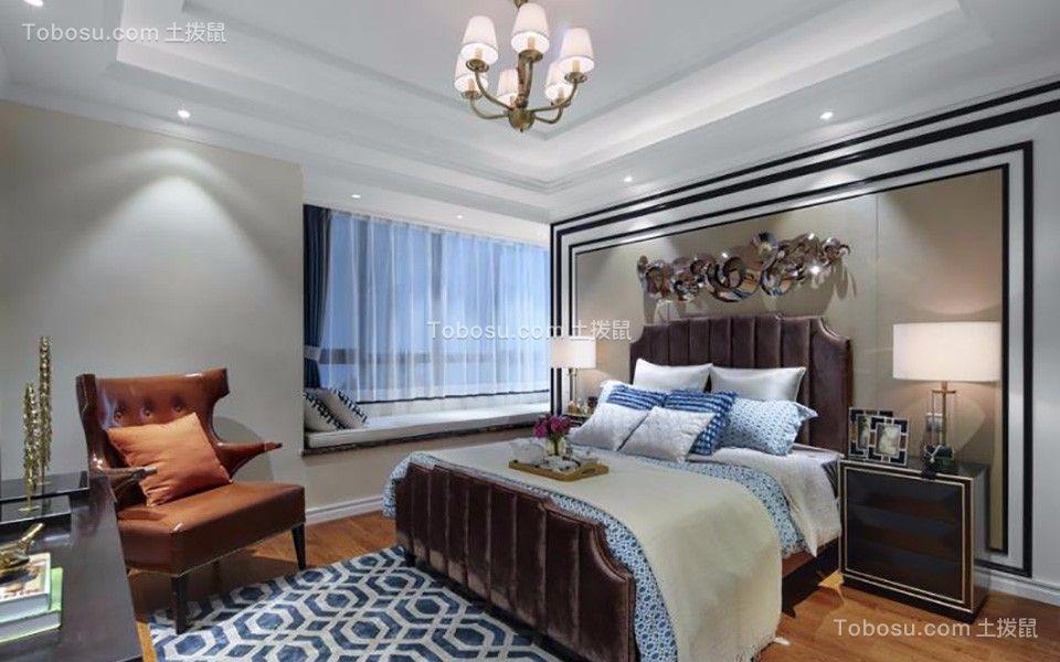 卧室红色电视柜欧式风格装饰效果图