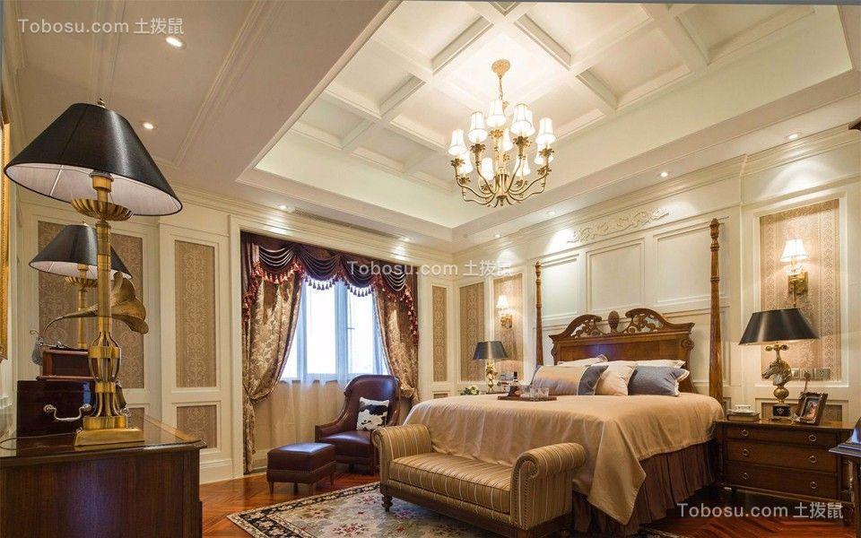典雅花园139平美式风格三居室装修效果图