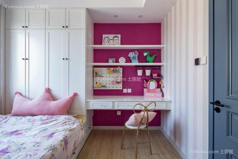 儿童房彩色衣柜北欧风格装修设计图片