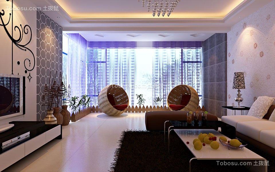盛世豪庭120平米四居室现代简约风格装修效果图