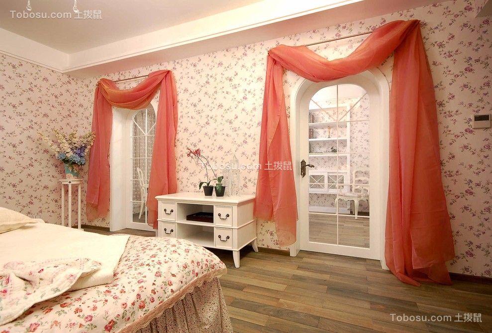 卧室粉色细节田园风格装饰设计图片