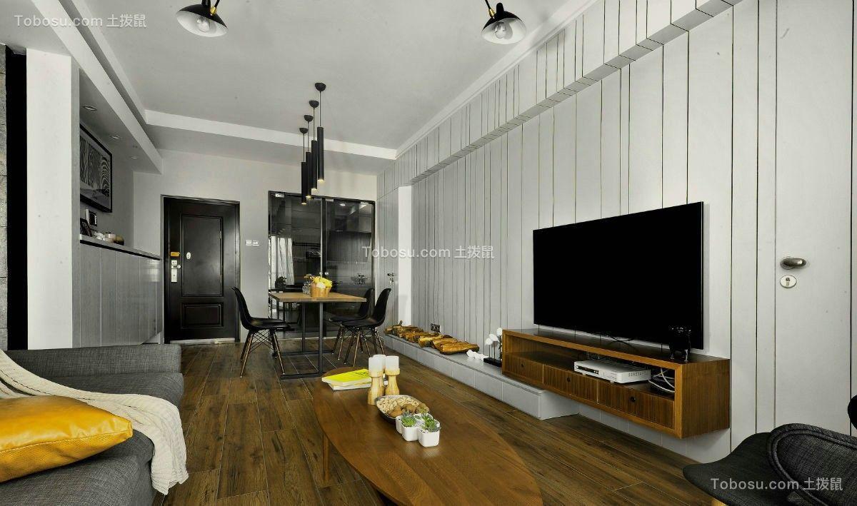 130平现代简约风格三居室装修效果图