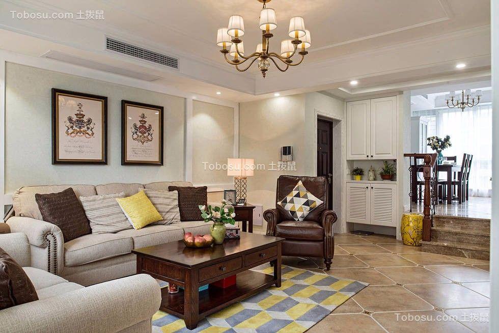 狮子湖157平美式风格四居室装修效果图
