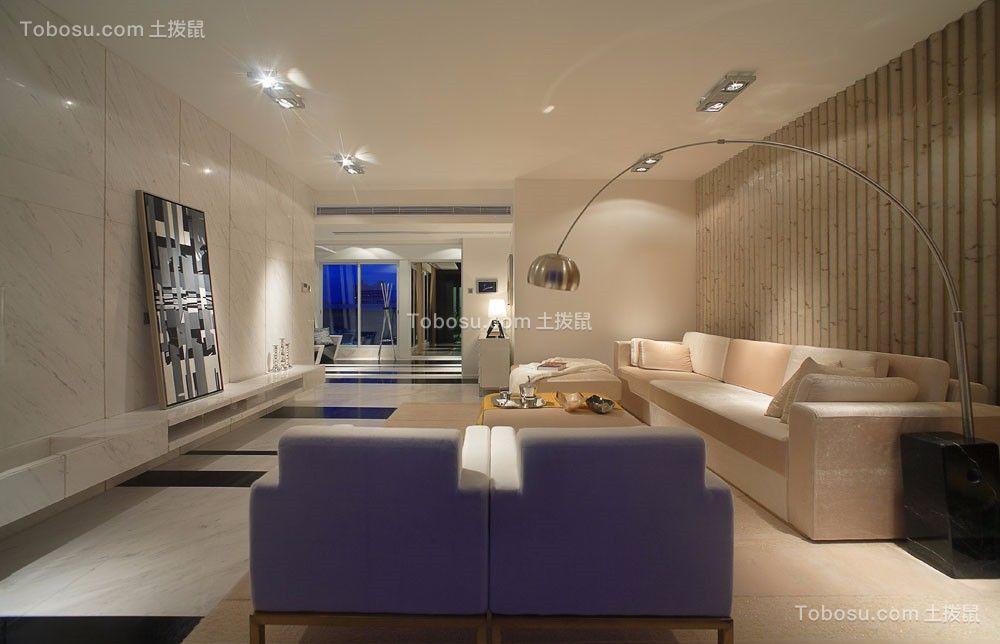 阳光100现代简约风格120平米三居室装修效果图