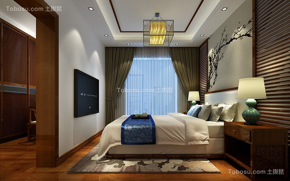 卧室彩色床简中风格装饰设计图片