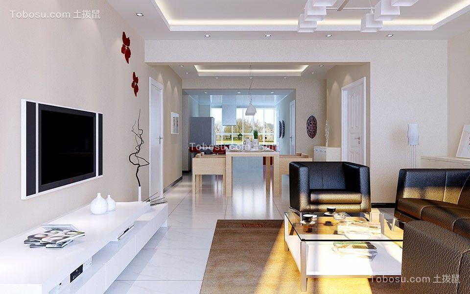 星云小区96平米三室北欧风格装修效果图