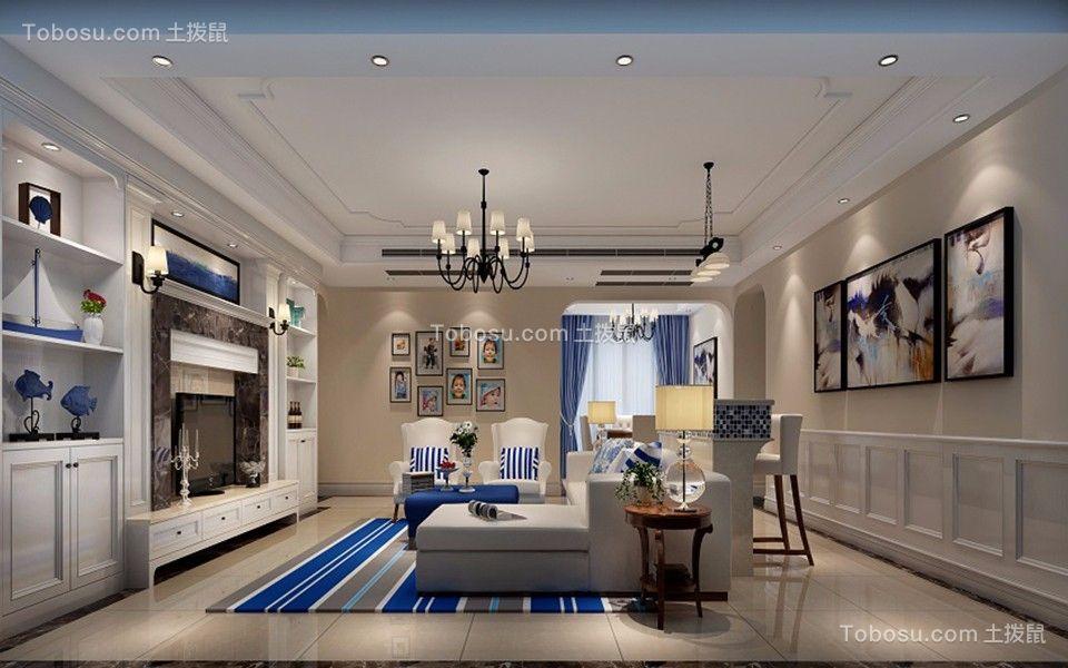 卓弘高尔夫地中海风格126平四居室装修效果图