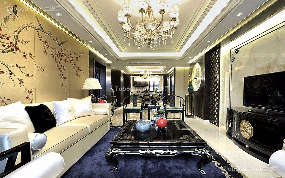 39万180平新中式四房两厅装修效果图