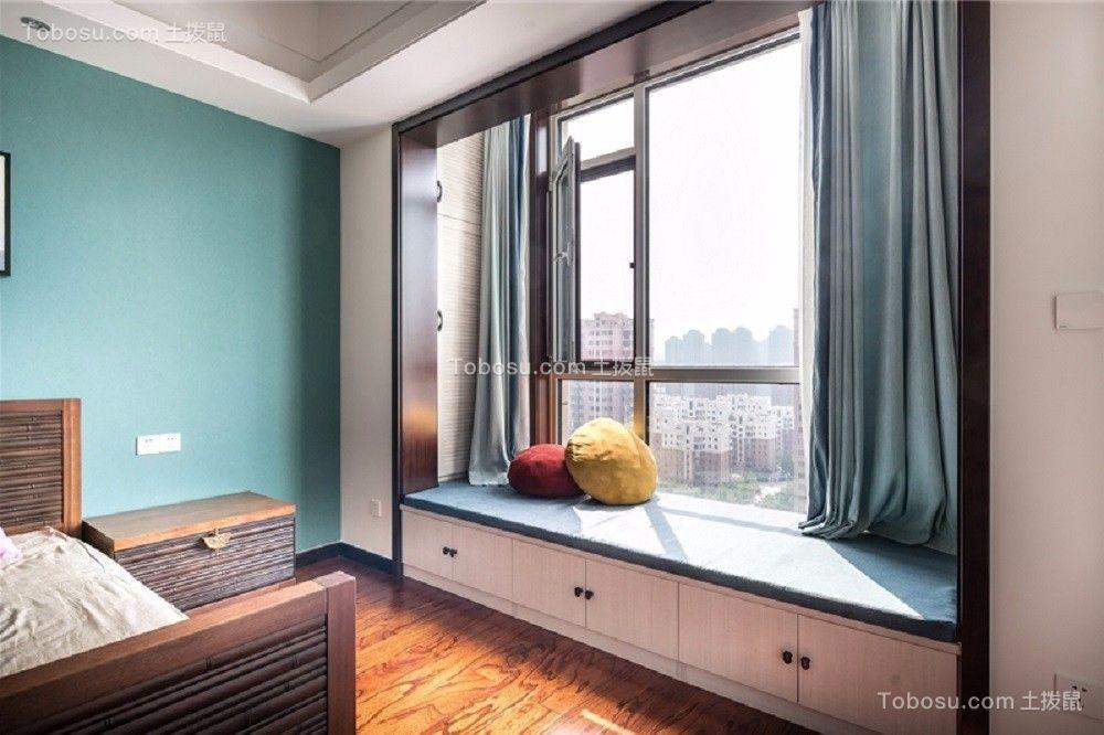 卧室白色飘窗新中式风格效果图