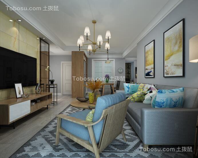 中铁滨湖名邸120平米现代简约风格小户型装修效果图