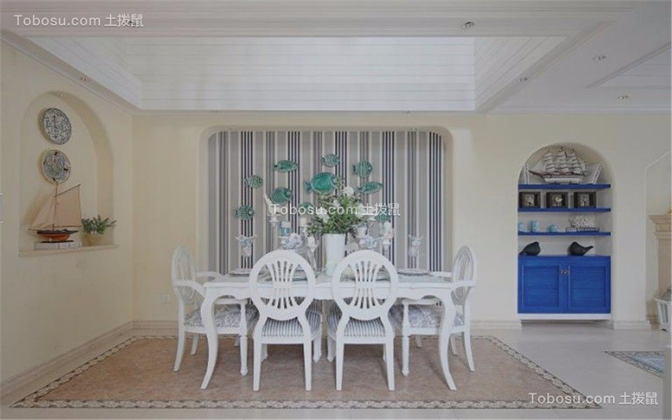武定新村68平方地中海风格二室一厅装修效果图