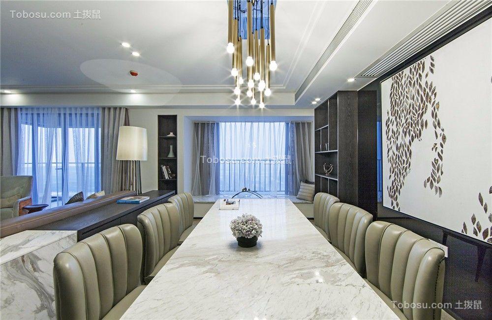 莱蒙城130平现代风格三居室装修效果图